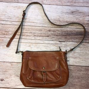 Patricia Nash Brown Leather Crossbody